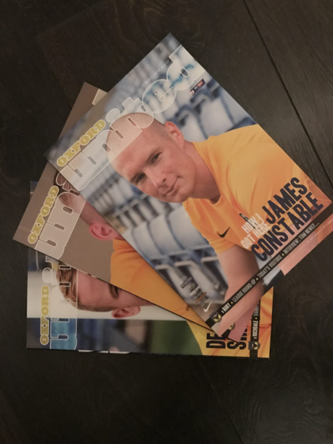 Oxford United FC Official match day magazines