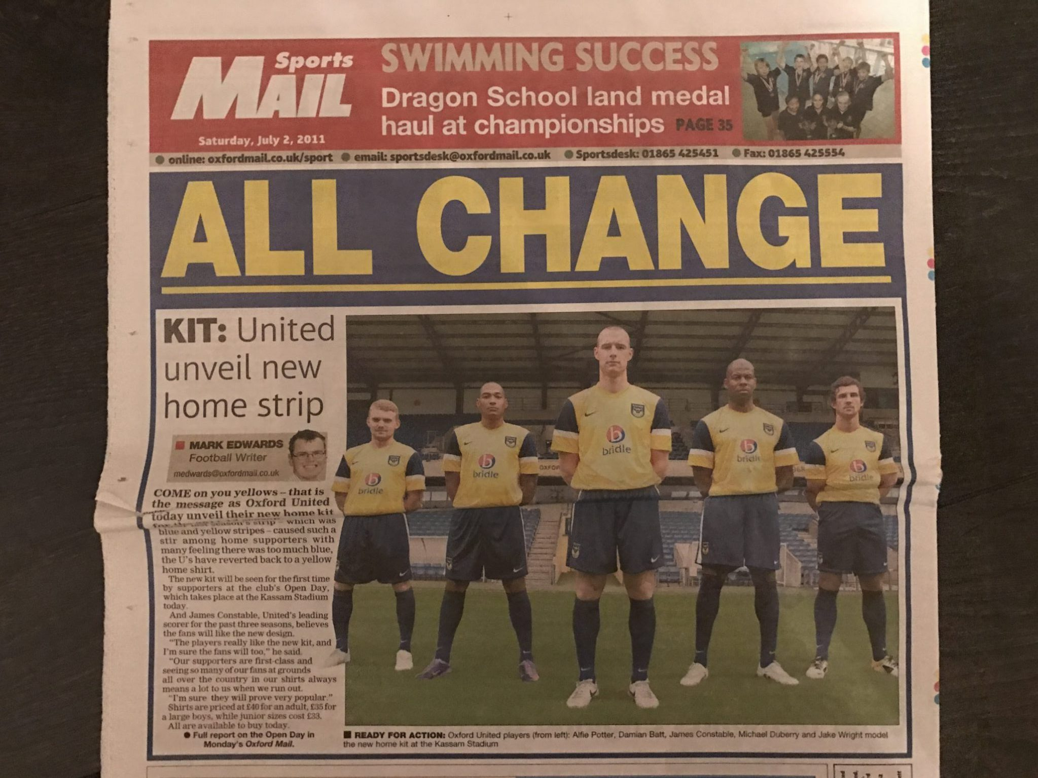 Oxford United Unveil New Strip – Oxford Mail
